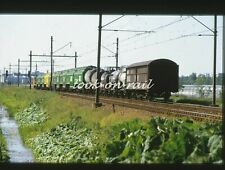 N1268 - Dia slide 35mm original Eisenbahn Holland, NS Güterwagenzug, '70s