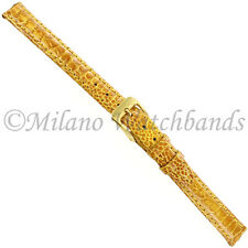 10mm Di Modell Royal Turkey Yellow Handcrafted Ladies Stitched Watch Band