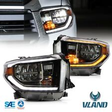 Full LED Headlights For 2014-2018 Toyota Tundra Dynamic Sequential Indicator