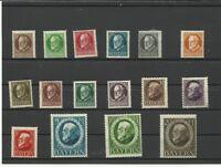 R17102401 Sammlung Altdeutschland Bayern.König Ludwig III . Mi.Nr. 94 bis 109