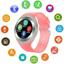 US Touch Smart Watch Cell Phone For Women Pink Smartphone Ios Compatible Android