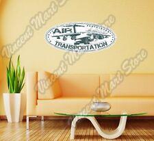 "Air Transportation Shipping Airplane Wall Sticker Room Interior Decor 25""X11"""