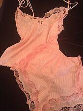 Vintage Original Berlei 60s Candy Pink Cami & Knickers Set Sissy Lingerie