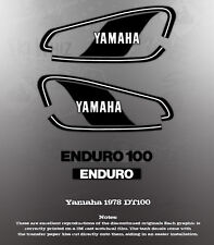 YAMAHA 1978 DT100 TANK COVER DECAL GRAPHIC SET