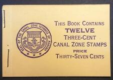 momen: Canal Zone Stamps #117b Complete Booklet VF APS