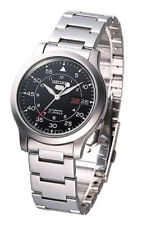 Seiko Automatic SNK809 SNK809K1 Men Black Dial Day Date Stainless Steel Watch