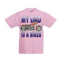 Camisetas y tops de niña de 2 a 16 años de manga corta azul de 100% algodón