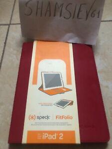 New Speck FitFolio Red Folio Case for Apple iPad 2 3 4