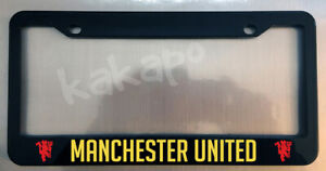 Manchester United Black License Plate Frame