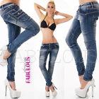 New Sexy Women's Designer Skinny Jeans Hot Denim Size 6 8 10 12 14 XS S M L XL