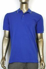 New Authentic Gucci Mens Jersey Polo Golf Shirt Blue 354345 4372