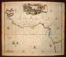 CARTE ANCIENNE ORIGINALE DU GOLFE DE GUINEE par DE WIT 1675 antic old map