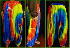 Pumphose Aladinhose Haremshose Yoga Hose Hippie Batik Regenbogen bunt Neu bequem