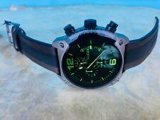 Diesel DZ-4414 Black/Green Dial Brown Genuine Leather Strap Men's Watch 49mm