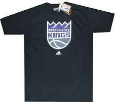 Sacramento Kings Primary Logo Adidas Black T Shirt New tags Clearance