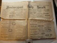 Complete Newspaper Newburyport Herald 5/30/1883 Baseball Score National League