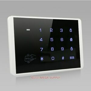 Wireless Password Keypad With Blue Backlight + Touch Keypad For Our Alarm System