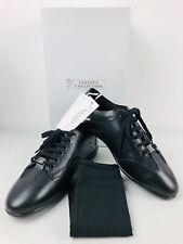 VERSACE COLLECTION 420 Men's Black Leather Sneaker Shoes UK 8 | EUR 42 | US 9