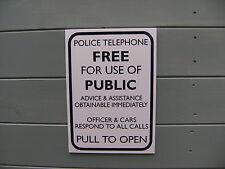 rigid a4 Dr. Who Tardis type telephone box sign  interior/exterior