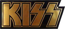 3741 KISS Rock Metal Music Band 70's Shiny Gold METAL EMBLEM HEAVY DUTY Sticker