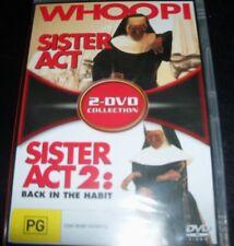 Sister Act 1 & 2 Back In The Habit (Whoopee Goldberg)(Australia Reg 4) 2 DVD NEW