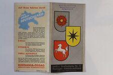 28275 SHELL Straßenkarte Nr. 11 Thüringen Mitteldeutschland Kassel Erfurt 1930
