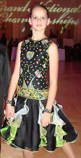 Girl Custom Pre-Owned Ballroom Rythm Latin Dance Dress 11-12 yrs