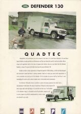 Land Rover Defender 130 Quadtec 1994 1995 UK Market Foldout Sales Brochure