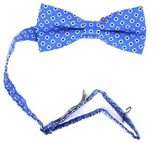 Nordstrom Kids Boys Blue Black 100% Silk Bow Tie 37466