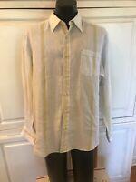Tommy Bahama Men's Shirt Long Sleeve Button 100% Linen Relax Sz Large