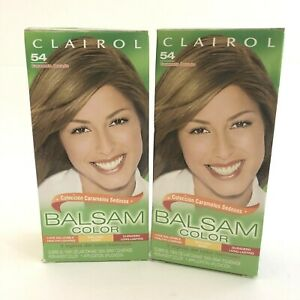 Lot of 2 Clairol Balsam Hair Color Light Golden Brown (54) Brand New