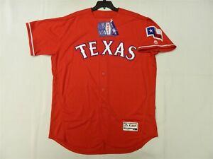 Authentic Texas Rangers Alternate RED Flex Base Jersey 52