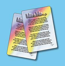 """""""Miss Me But Let Me Go"""" - Inspirational Poem - 2 Verse Cards - SKU# 784"""