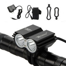 SolarStorm 8000lm 2xT6 LED Front Bicycle Light Bike Headlamp Headlight 6400mAh