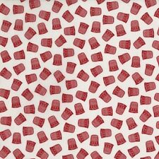 RJR Red by Alex Anderson 2137 001 Red Thimbles  Cotton Fabric