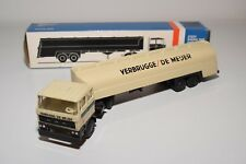 ± LION CAR DAF 2800 TRUCK WITH TRAILER TANKER VERBRUGGE DE MEIJER N MINT BOXED