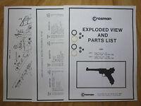 Crosman MK 1 2 Mark I Mark II TWO (2) Seal Kits + Expl View + Guide+ Parts List