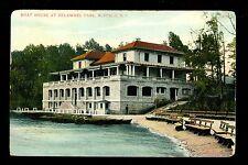 Buffalo, New York NY Vintage postcard Boat House in Delaware Park 1911