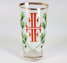 verre Turner Verre à bière coupe emaillemalerei um 1910 al125