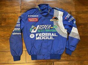 Dave Blaney #77 Jasper Engines Windbreaker Jacket Mens Size Medium NASCAR