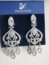 Swarovski Designer Chandelier Earrings Clip Signed Nwt $155.00