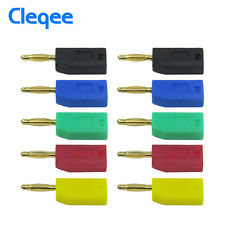 10PCS 2mm Stackable Banana Plug Gold Plated Connector For Speaker Amplifier