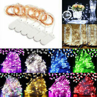 6 Pack 20 LED Battery Micro Rice Wire Copper Fairy String Lights Decor 2M - Du