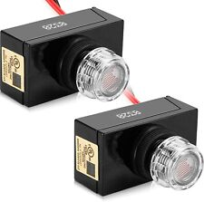 Dusk To Dawn Photocell Sensor Switch Hardwire For Outdoor Light Fixture 2 Pack