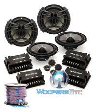 "pkg 2 Soundstream Ac.6 Car 6.5"" Component Speakers + True 16 Gauge 50 Ft Wire"