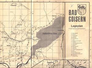Bad Goisern, OÖ, Österreich, Ortsplan und Beherbergungsverzeichnis, um 1970