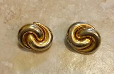 """Vintage Christian Dior 1"""" Gold Tone Clip On Earrings"""