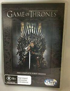 Game of Thrones DVD complete season 1 region 4