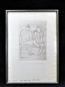RARE PABLO PICASSO ETCHING BALLET SERGE LIFAR Ca. 1945   (2/2)  GRAVURE - #24