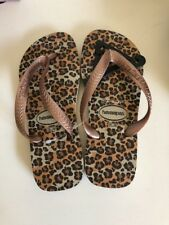 Havaianas Thongs Flip Flops Size 35-36 BNWT Animals Areia Sand Grey Plus Box